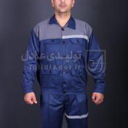 لباس کار عملیاتی کج راه دکمه ای مناسب معادن مدل AL-251